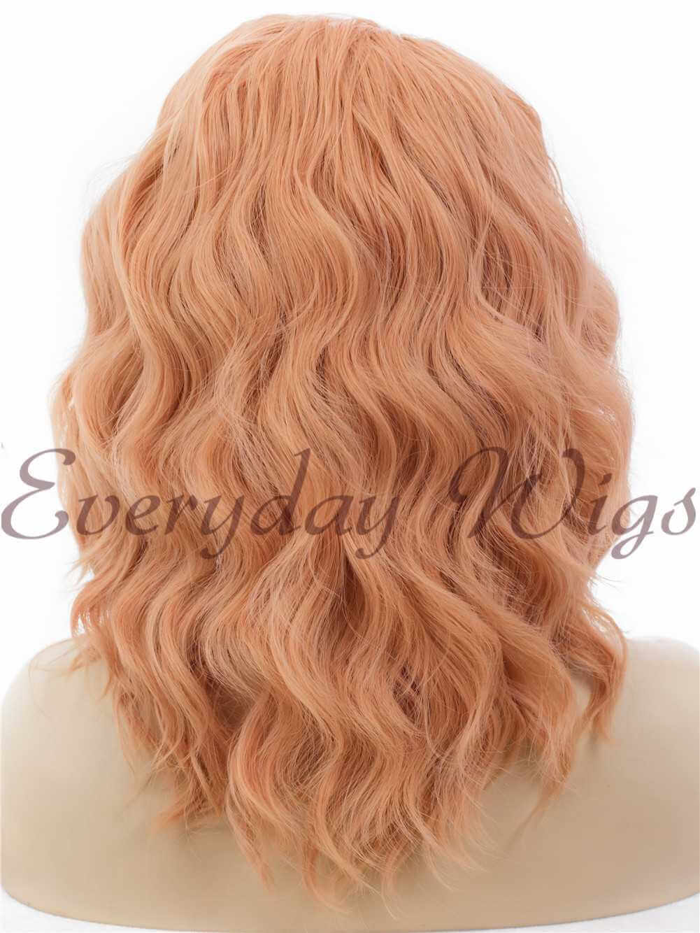 "14"" Brown Bob wavy Synthetic Lace Front Wig- edw286"