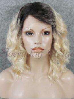 "14"" Short Ombre blonde Synthetic Wig- edw318"