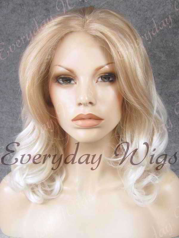 "14"" Shoulder Length Ombre Color Wavy Synthetic Lace Front Wig- edw320"