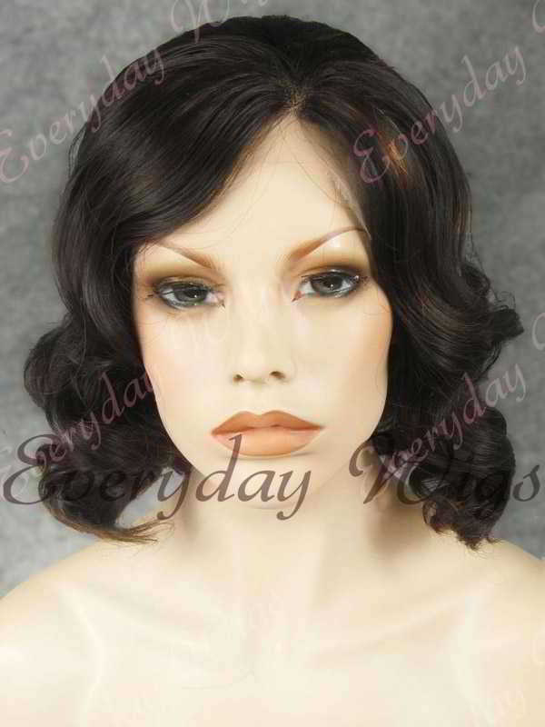"14"" Shoulder Length Water Wave Highlight Color Synthetic Lace Front Wig- edw330"
