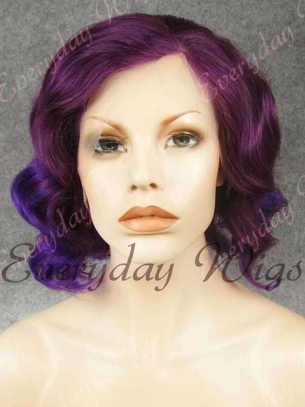 "16"" Shoulder Length Water Wave Synthetic Lace Front Wig- edw341"