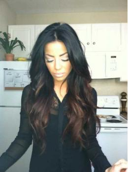 Ombre full lace human hair wigs- edw3509