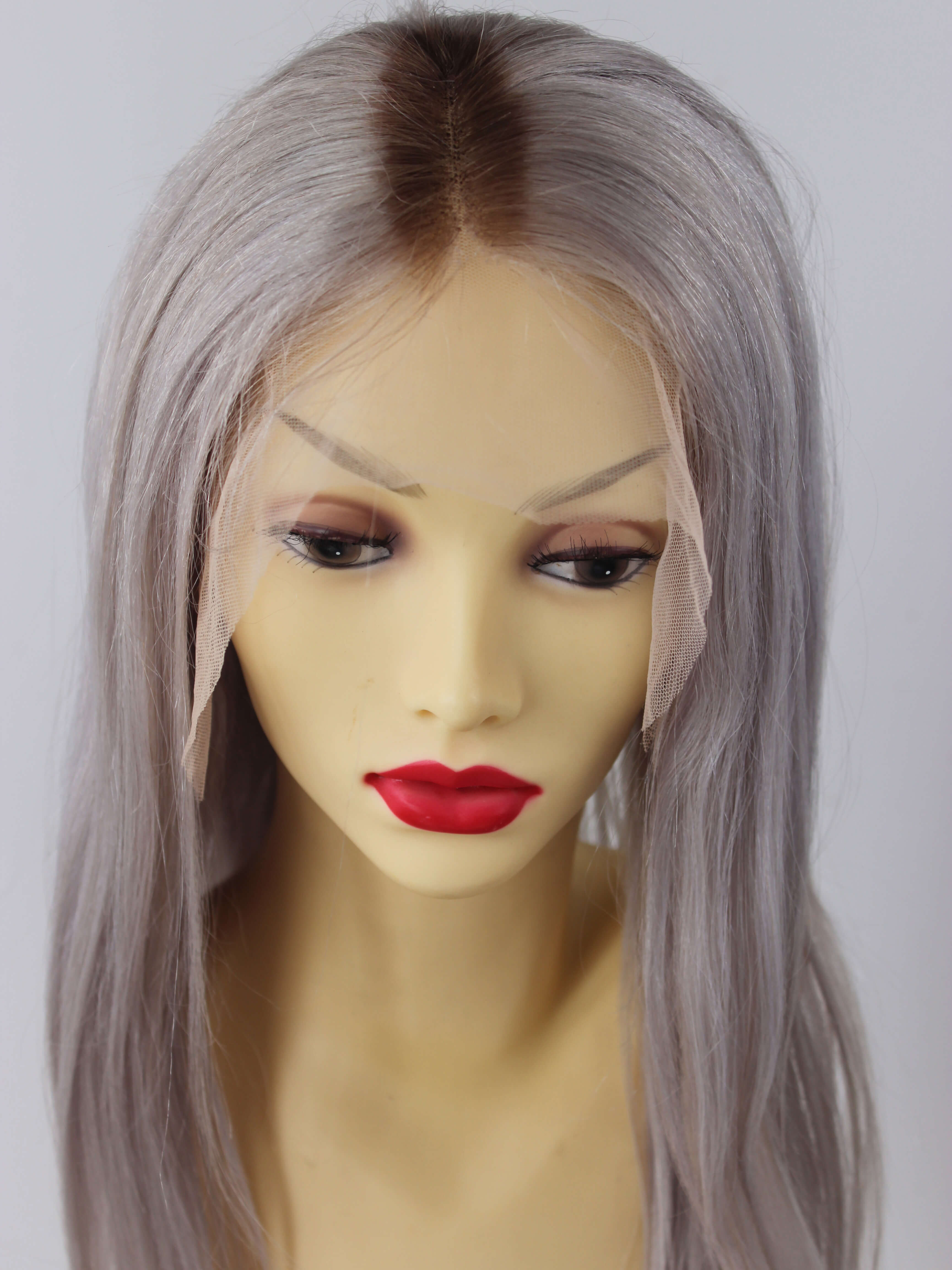 Ombre platinum Blonde full lace human hair wigs- edw3519