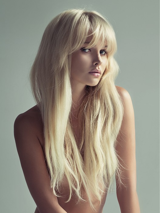 Long Blonde Hair with Bangs Full Lace Wigs- edw3524