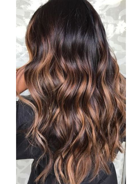 Ombre Brown Full Lace Human Hair Wigs- edw3527