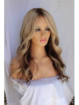 Ombre blonde full lace human hair wigs- edw3529