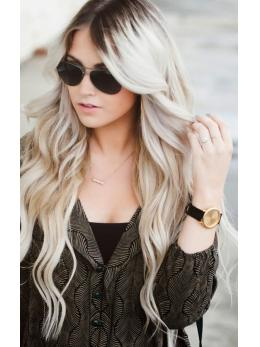 Ombre Blonde Full Lace Human Hair Wigs- edw3533