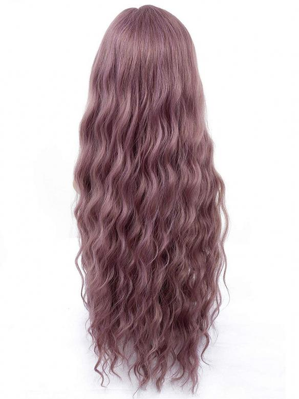 "24"" Purple Wavy Wefted Cap synthetic Wigs- edw4001"