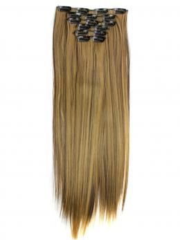 "26"" Long Brown Wefted Cap Wigs with bangs- edw4010"