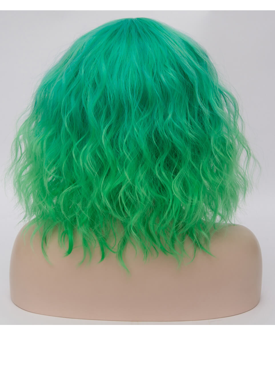 "14"" Short Ombre Green Wefted Cap Wigs- edw4013"