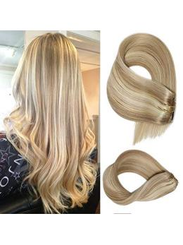 Blonde Highlights Clip in Hair Extensions (#18/#613)-edw5001