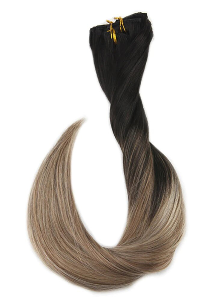 Ombre #1B #8 #24Clip in Hair Extensions-edw5004 - Click Image to Close