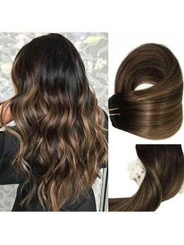 Ombre brown Clip in Hair Extensions-edw5006