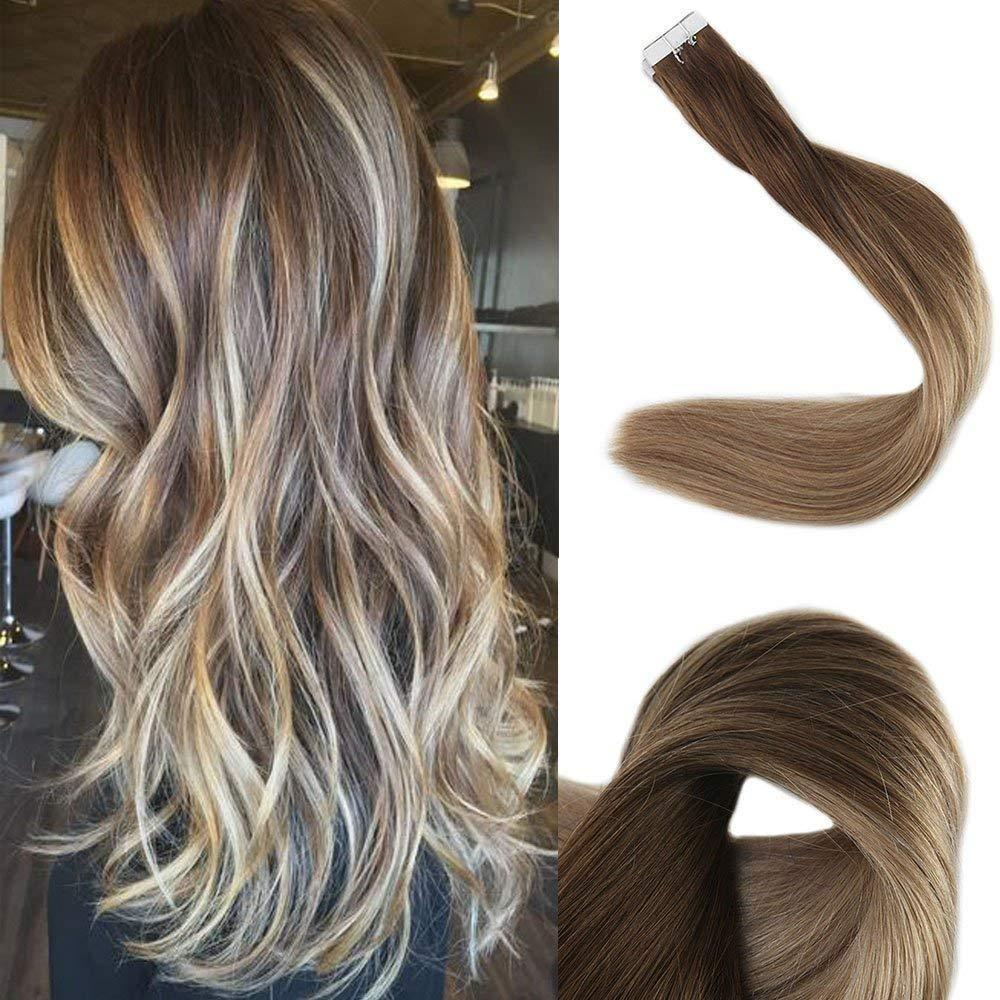 Ombre Blonde Tape in Hair Extensions (4/8/22)-edw5007
