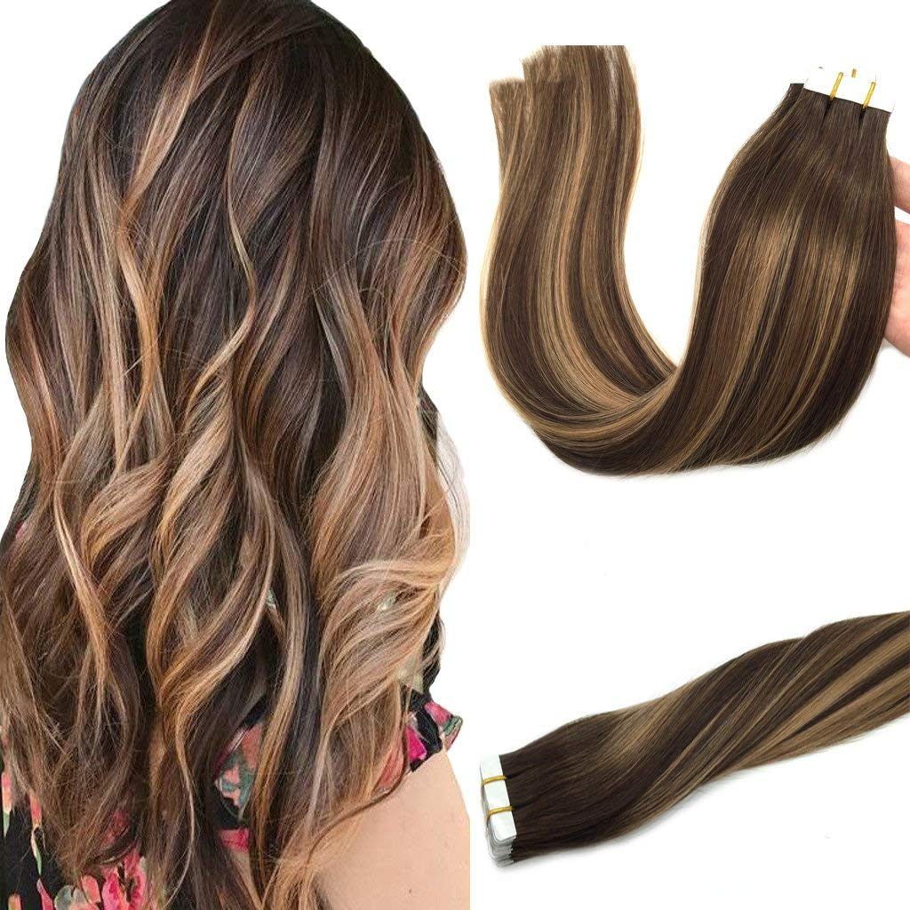 Ombre Blonde Tape in Hair Extensions (4/27/4)-edw5010 - Click Image to Close