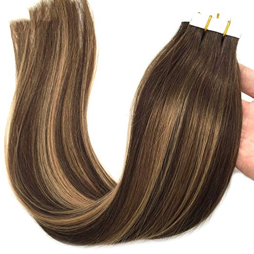 Ombre Blonde Tape in Hair Extensions (4/27/4)-edw5010