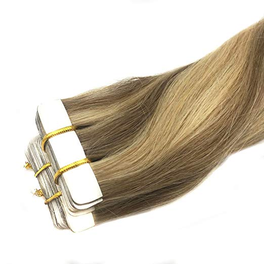Ombre Blonde Tape in Hair Extensions (16/22)-edw5011