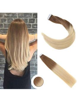 Ombre Blonde Tape in Hair Extensions ( T8/613)-edw5012