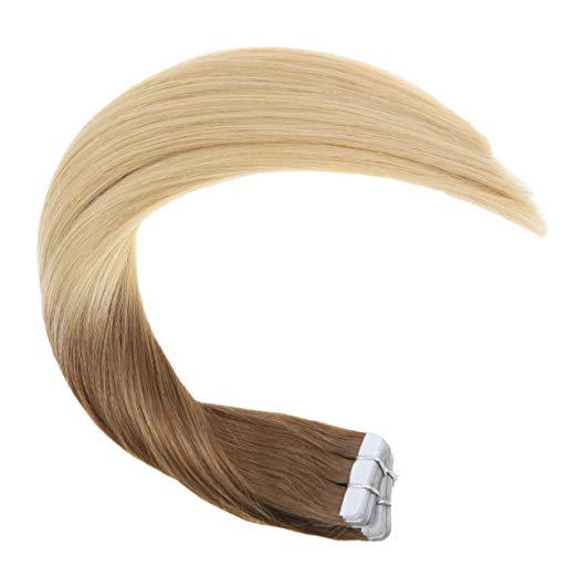 Ombre Blonde Tape in Hair Extensions ( T18/613)-edw5012