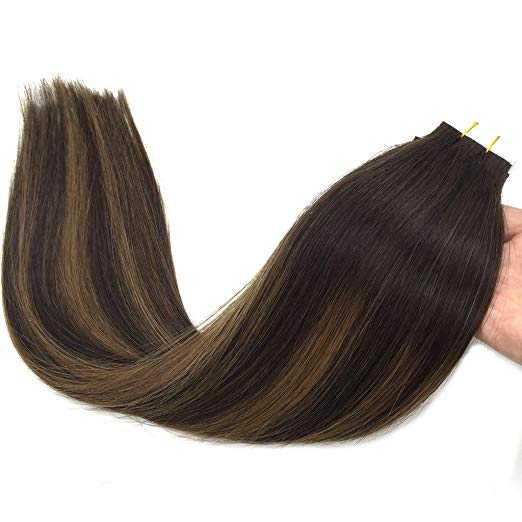 Ombre Brown Tape in Hair Extensions ( 2/6/2)-edw5013