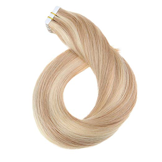 Ombre Black Tape in Hair Extensions (1B#)-edw5015