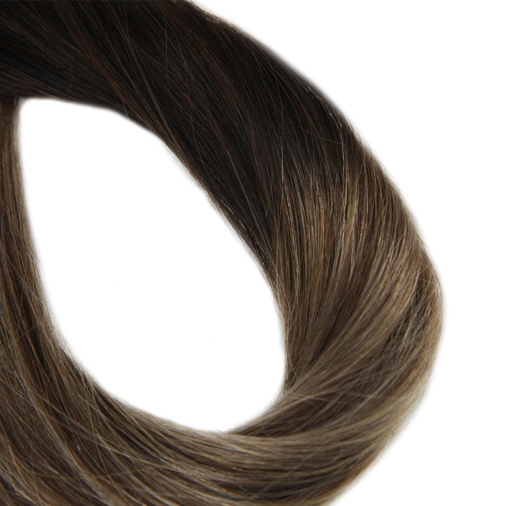 Ombre Brown Tape in Hair Extensions ( #1B/#6/#27)-edw5016