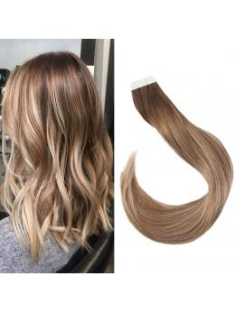 Ombre Blonde Tape in Hair Extensions ( #4/6/18)-edw5017