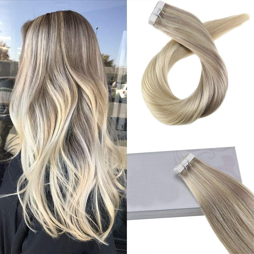 Ombre Blonde Tape in Hair Extensions ( #18/22/60)-edw5018