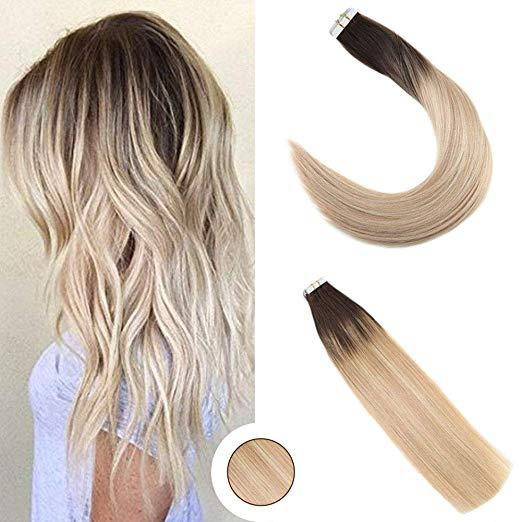 Ombre Blonde Tape in Hair Extensions (1b/16/22)-edw5022
