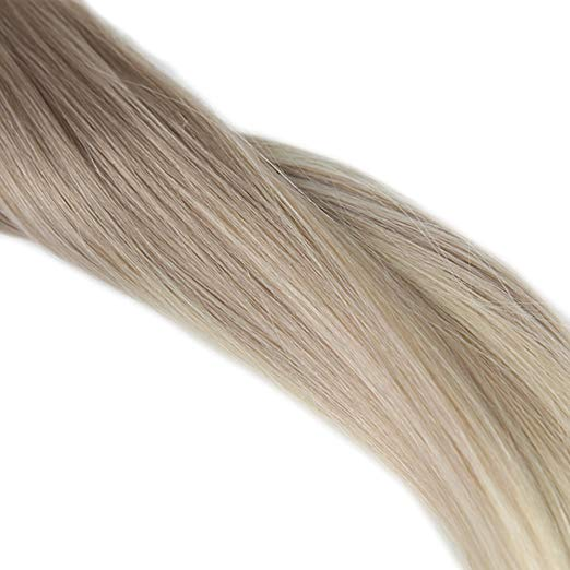 Ombre Blonde Clip in Hair Extensions #18#60-edw5101