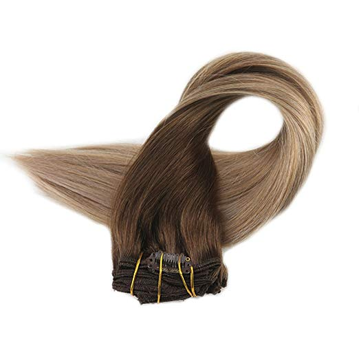 Ombre Blonde Clip in Hair Extensions #4/#18/#27-edw5103