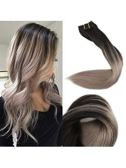 Ombre Clip in Hair Extensions #1B#18-edw5106