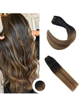 Ombre Ash Blonde Clip in Hair Extensions #2#6#18-edw5107