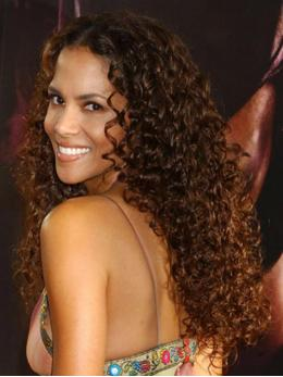 Halle Berry Curly Human Hair Lace Wigs-edw7001