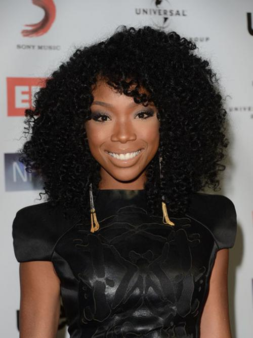 Brandy Norwood Curly Human Hair Lace Wigs-edw7003