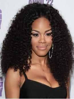 Teyana Taylor Curly Human Hair Lace Wigs-edw7004