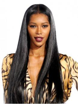 Jessica White Long Straight Human Hair Lace Wigs-edw7016