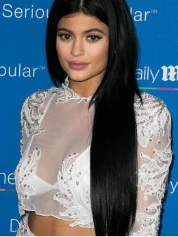 kylie Jenner Long Straight Human Hair Lace Wigs-edw7017