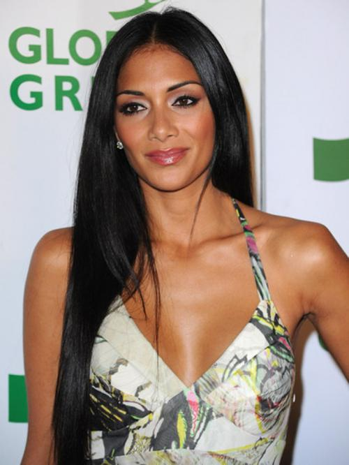 Nicole Scherzinger Long Straight Human Hair Lace Wigs-edw7020