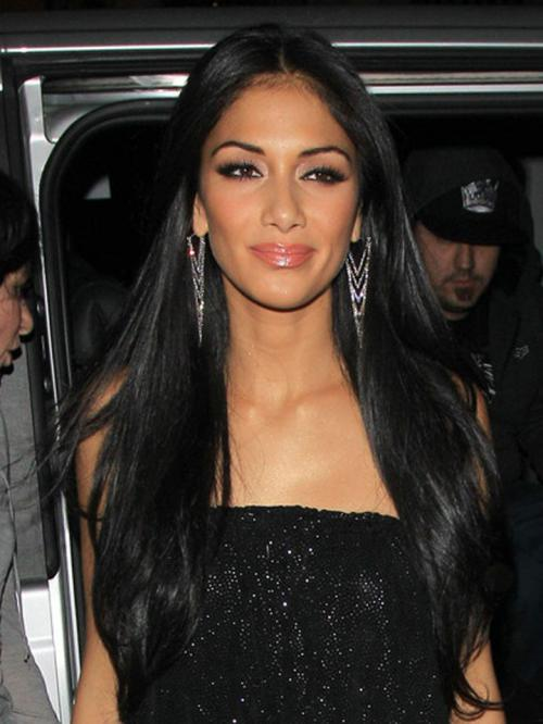 Nicole Scherzinger Long Straight Human Hair Lace Wigs-edw7023